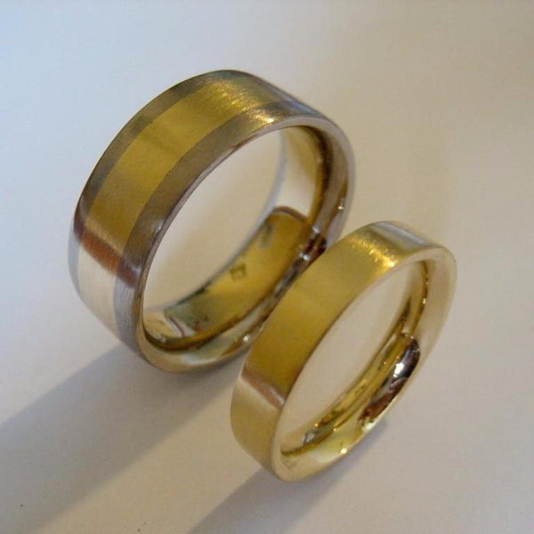 Rings - 2 Handmade Textured, Comfort Curve Wedding Bands.