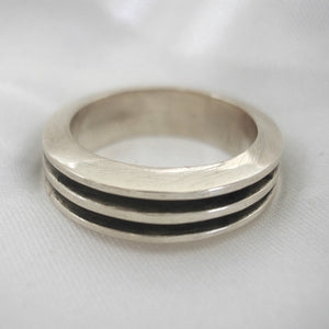 Silver minimal Ring In 18ct, 9ct Or Sterling Silver