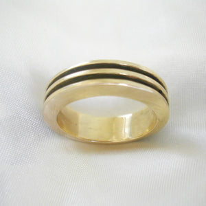Industrial Ring 18ct, 9ct Or Sterling Silver