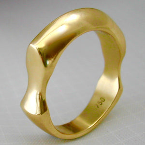 Rings - Solid Sexy Sculpted Handmade Wedding Ring Or Dress Ring
