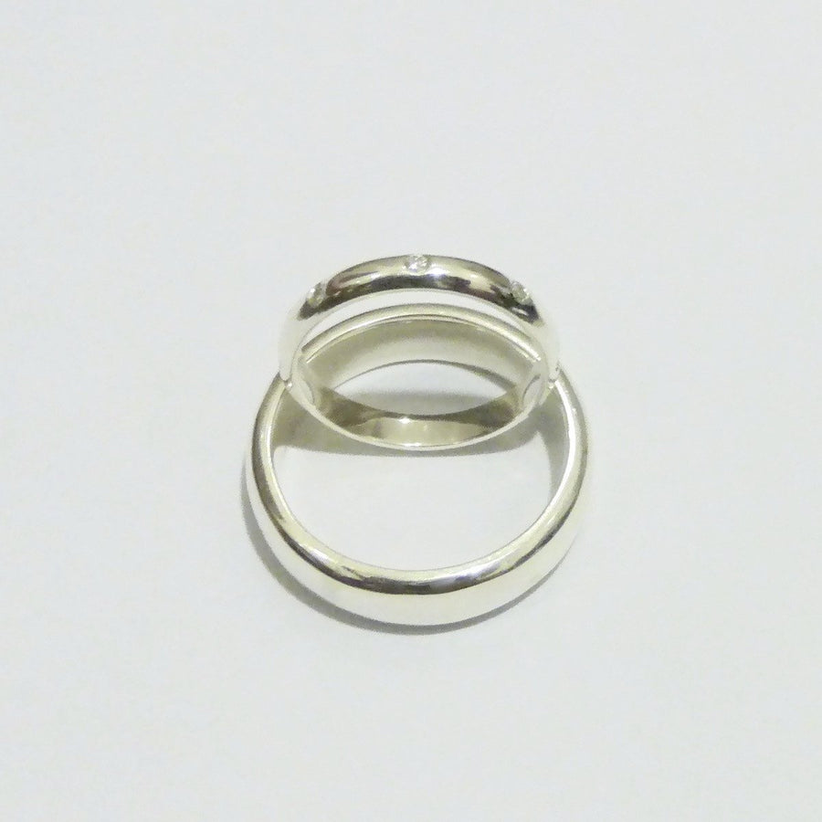 Rings - Sterling Silver And Diamond Wedding Rings