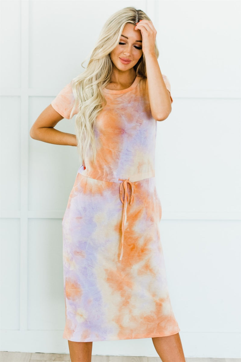 Sunset Tie Dye Dress - Pink