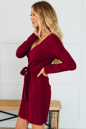 Twirl Worthy Dress -Burgundy