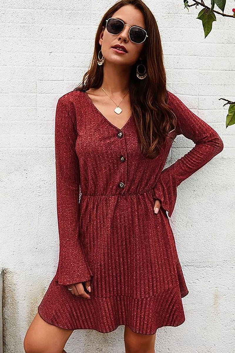 The Maddie Dress - Burgandy
