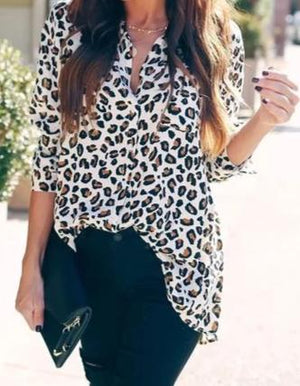 Leopard Button Down - More Colors