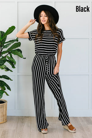 Striped Jumpsuit - More Colors