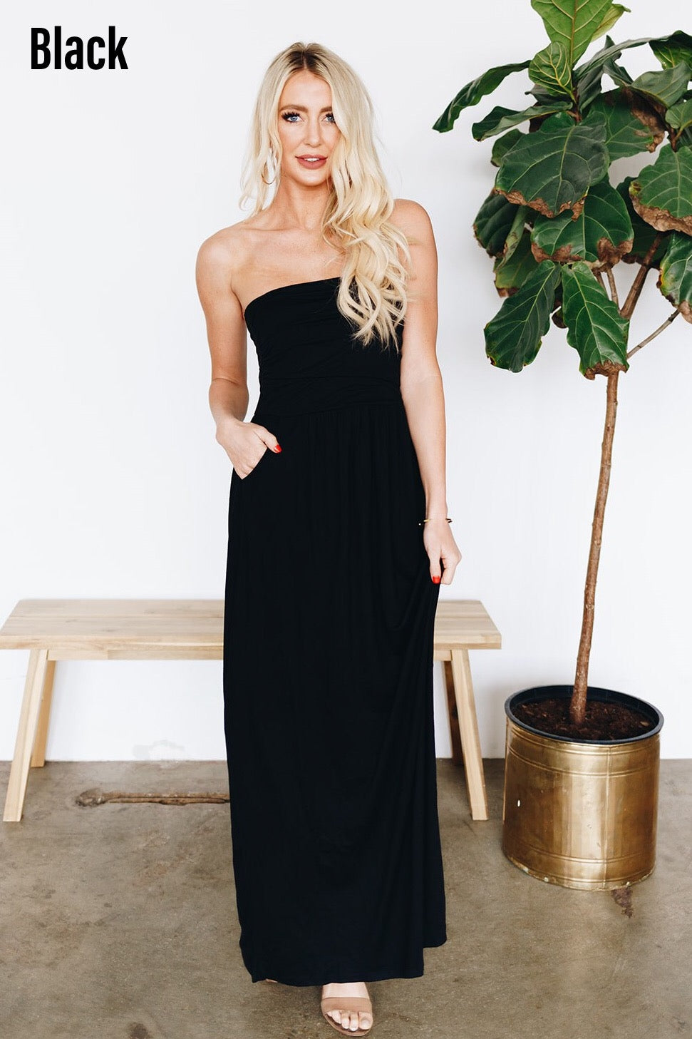 Oh So Perfect Strapless Maxi Dress More Colors