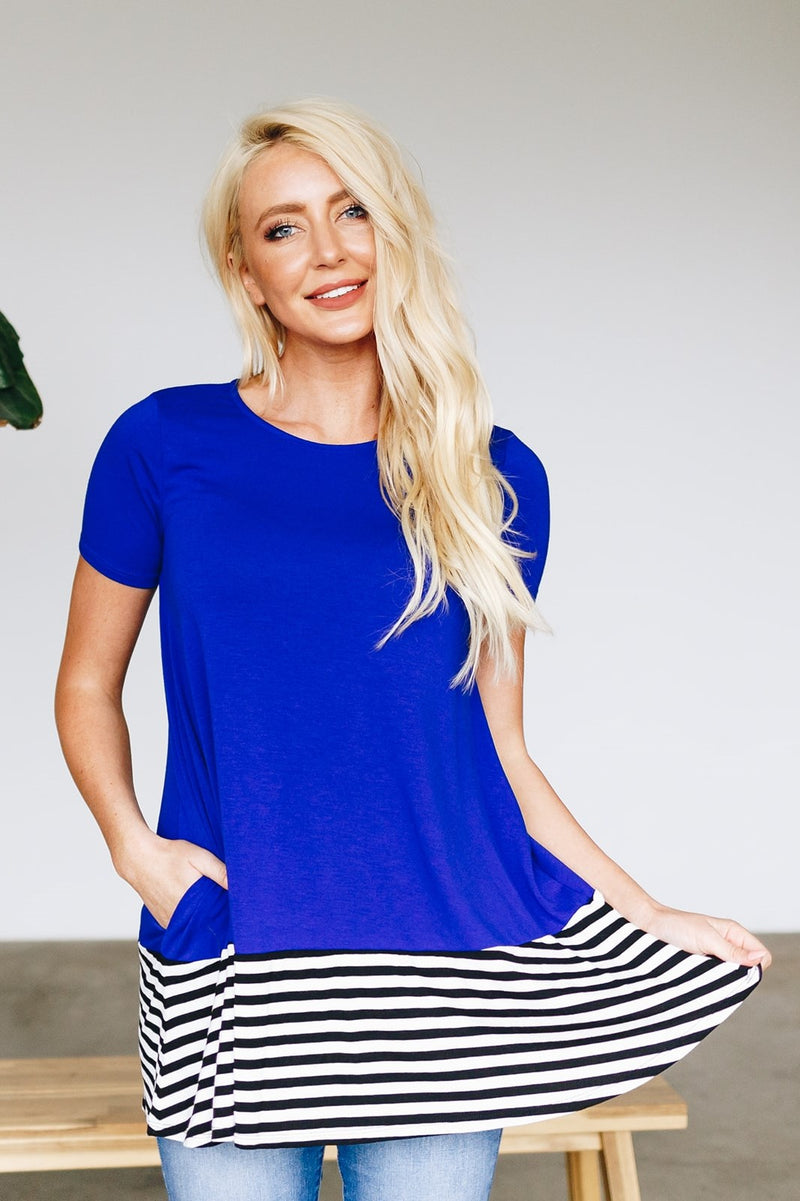 Striped Bottom Tunic- More Colors