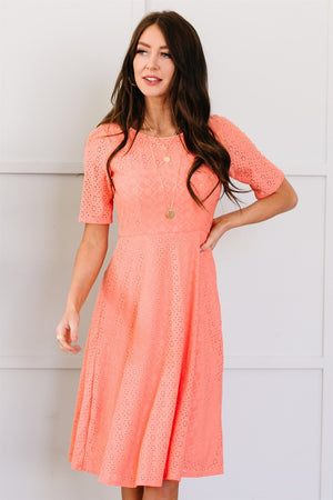 The Collete Dress - Coral