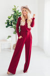 Mia Jumpsuit - Burgundy