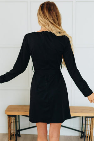 Twirl Worthy Dress -Black