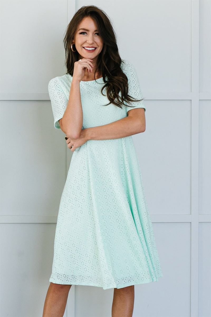 The Collete Dress - Aqua