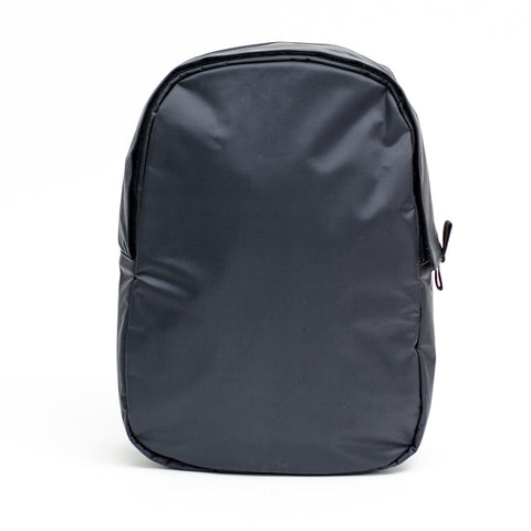 LEATHER BACKPACK W/ INSERT - FLAT BLACK