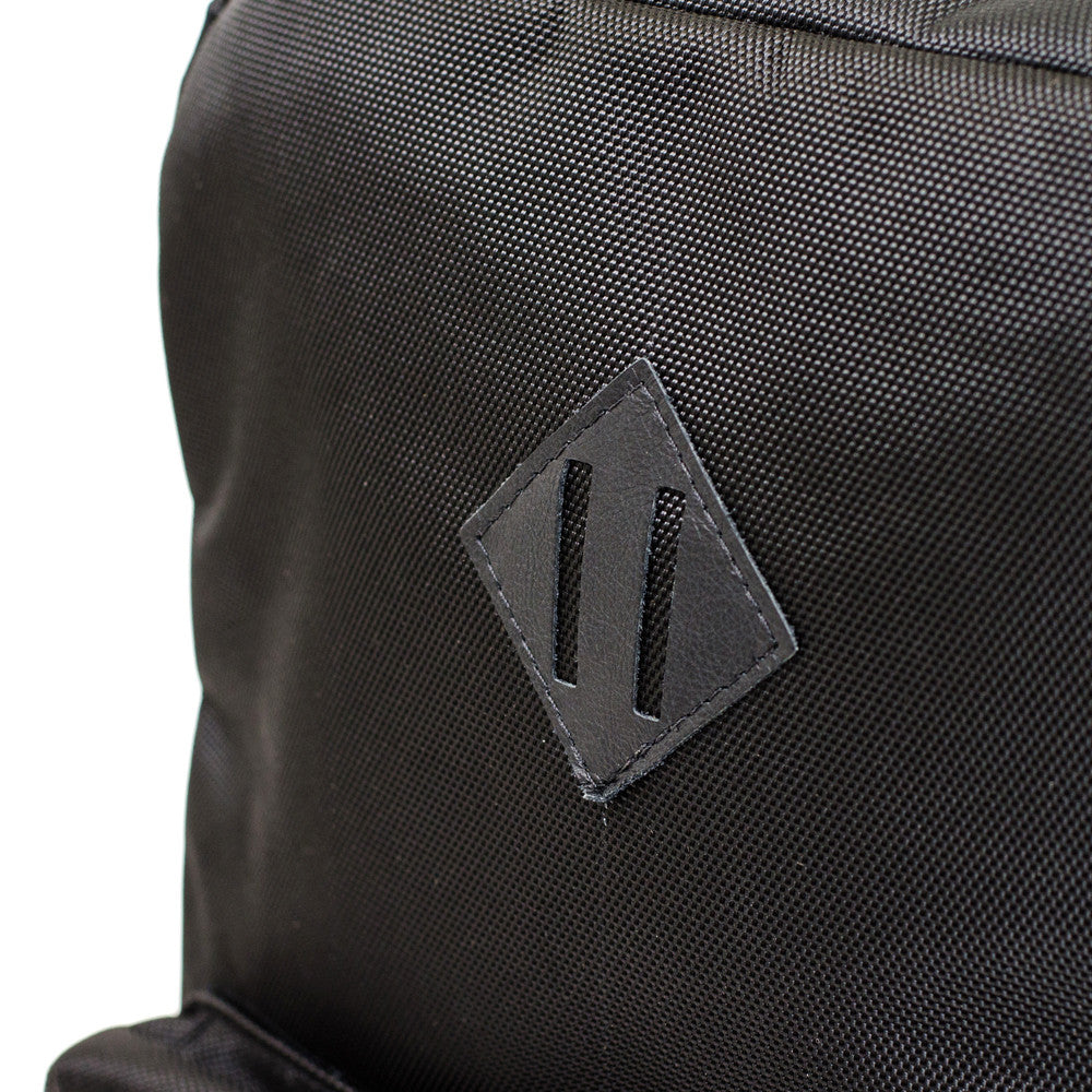 Black Ballistic Nylon Backpack Lash Tab