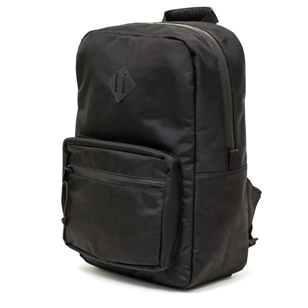Black Ballistic Nylon Smell Proof Backpack