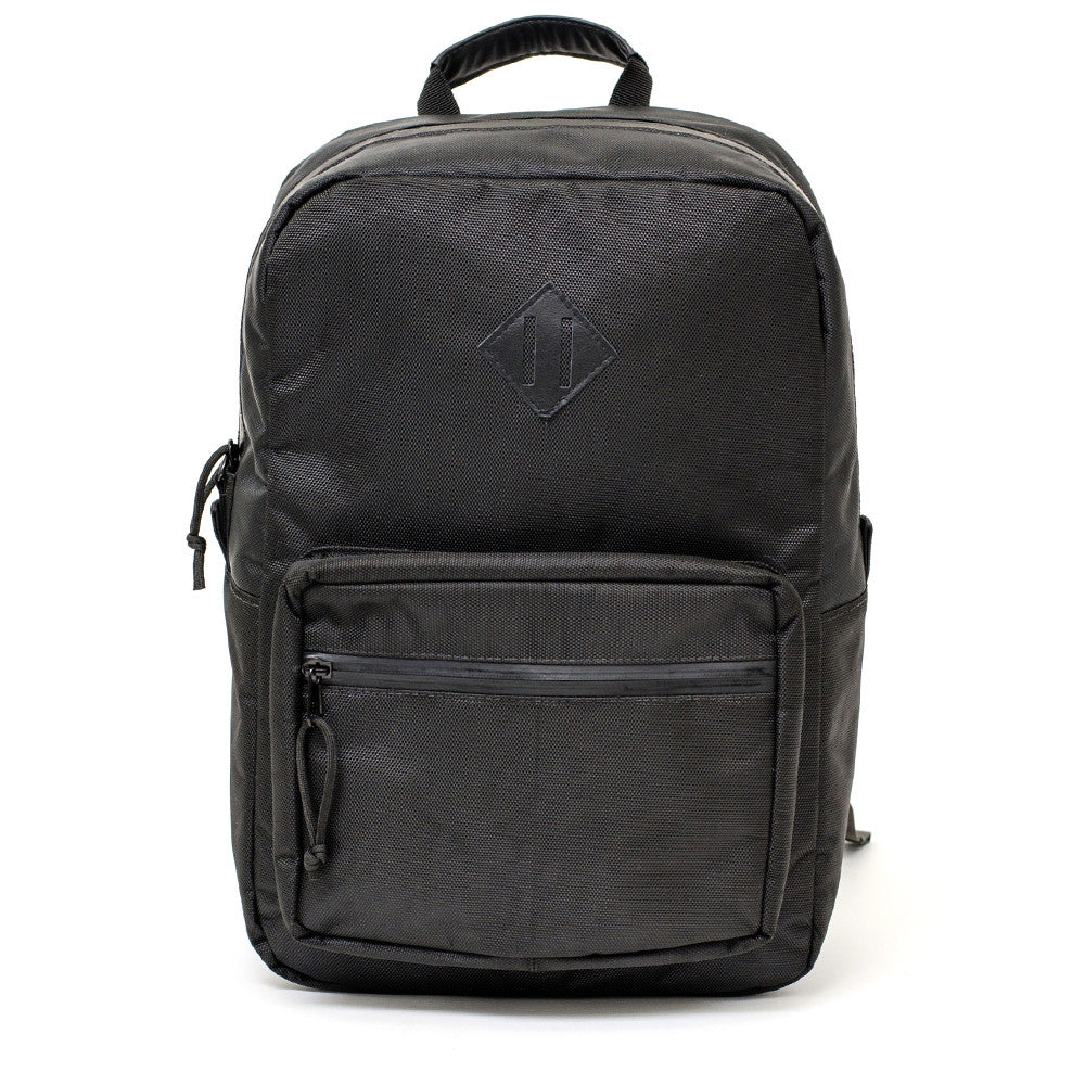 Black Ballistic Nylon Backpack