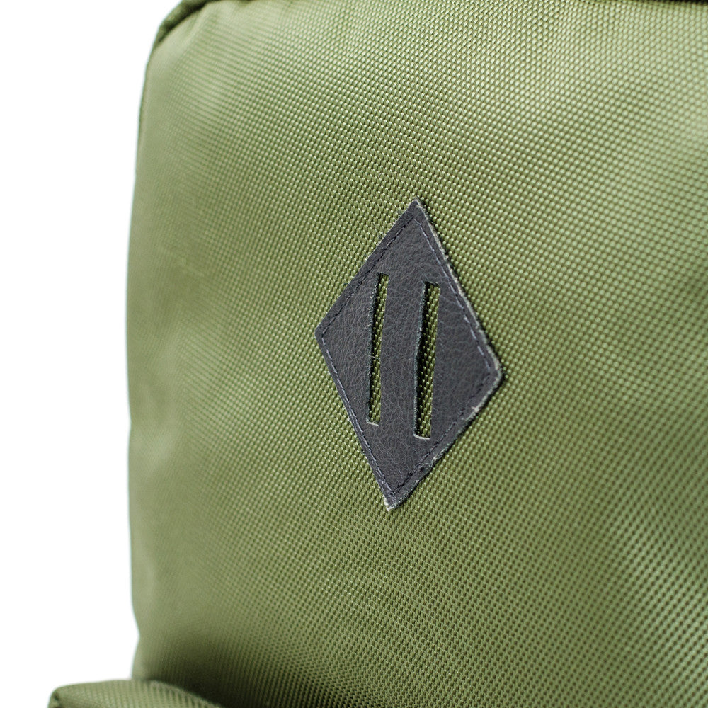 Olive Green ballistic backpack lash tab