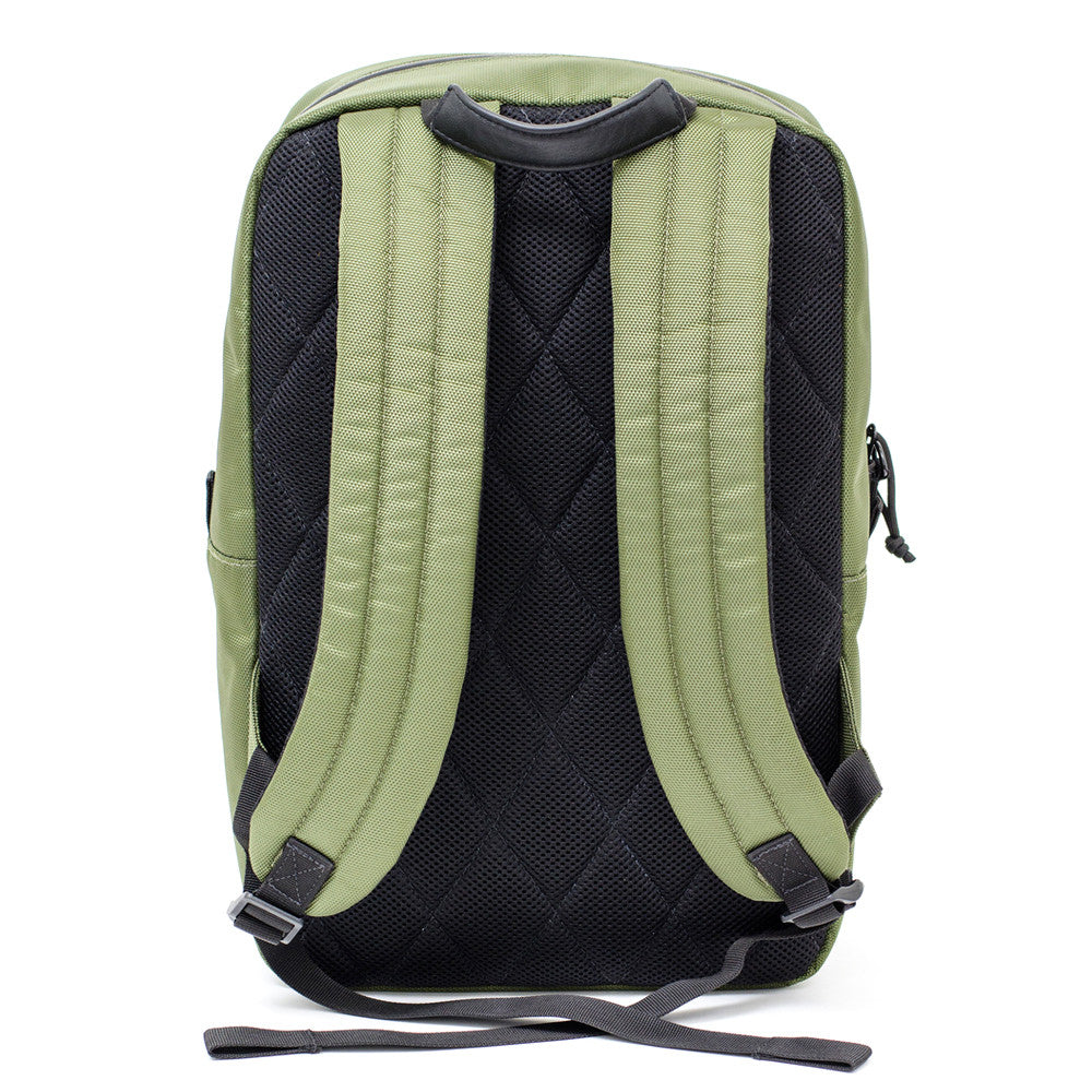OD Green ballistic backpack straps