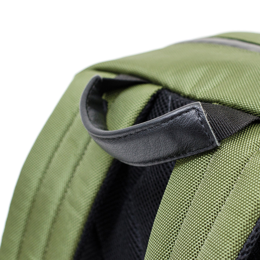 Olive Green ballistic backpack handle