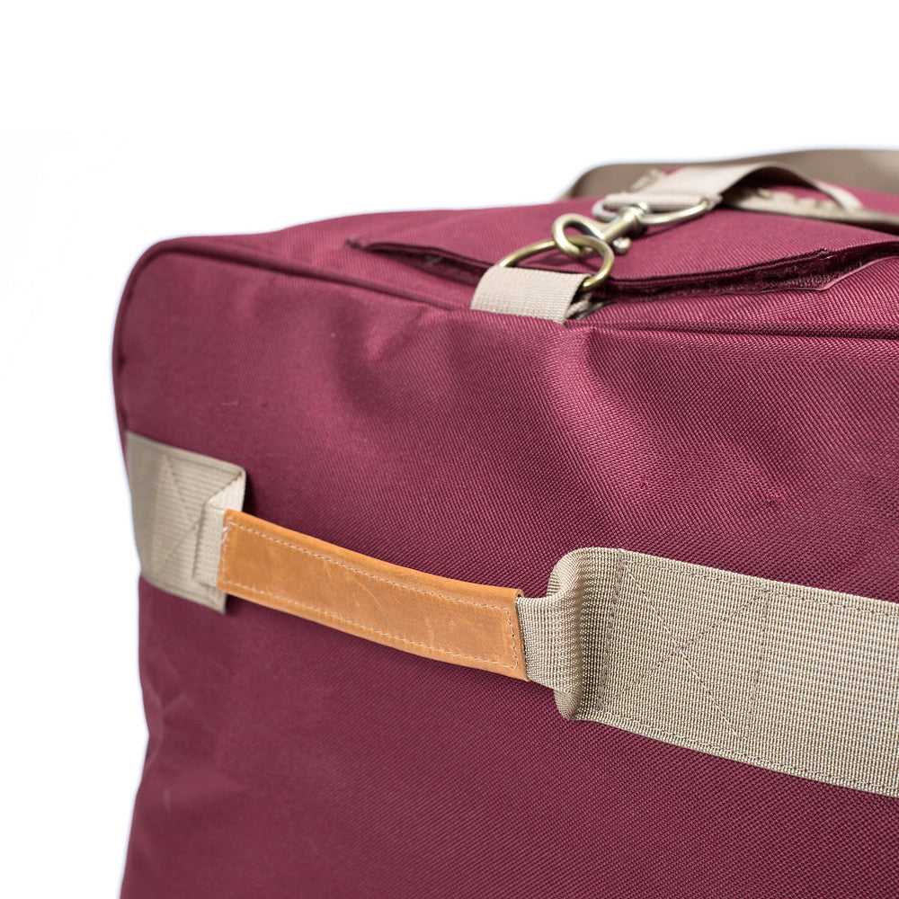 Extra Large Burgundy Crimson Odor Hiding Duffel Bag Side Handle