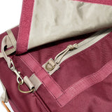 Extra Large Burgundy Crimson Odor Hiding Duffel Bag Zipper