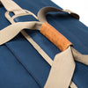 Extra Large Midnight Blue Scent Proof Duffel Bag Leather Handle