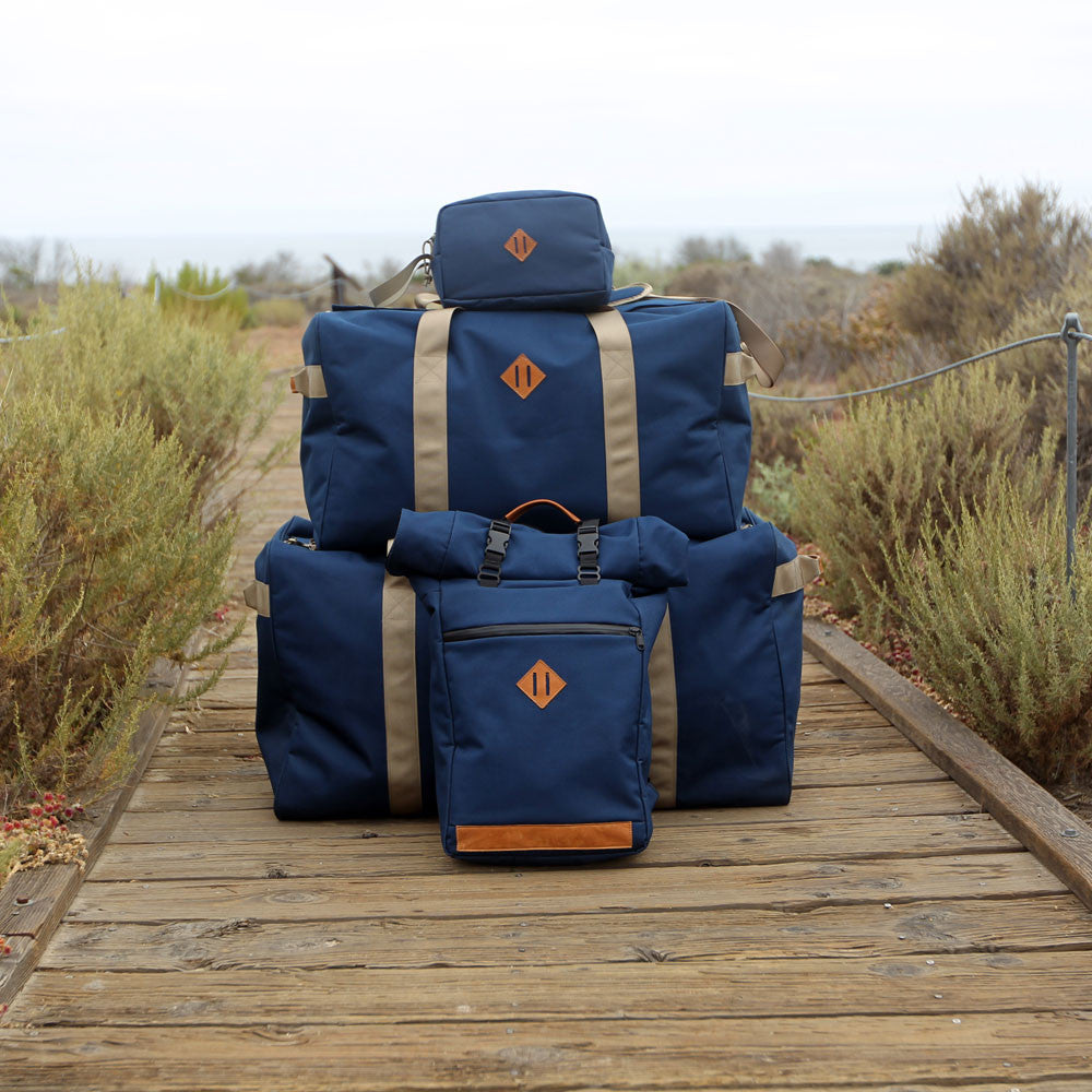 Midnight Navy Blue Scent Proof Carbon Bag Collection