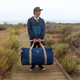 Odor Proof Medium Large Midnight Blue Duffel Bag Lifestyle