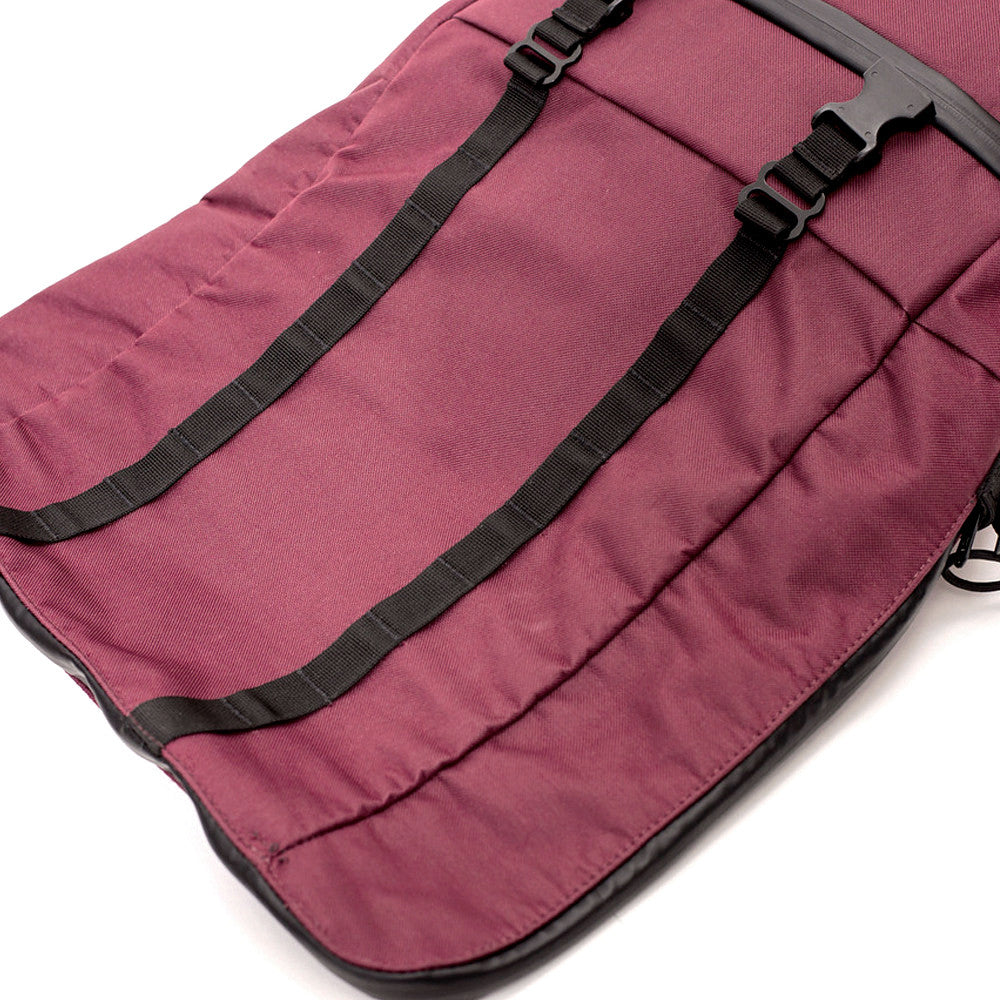 Roll Top Smell Hiding Backpack Crimson Burgundy Opening