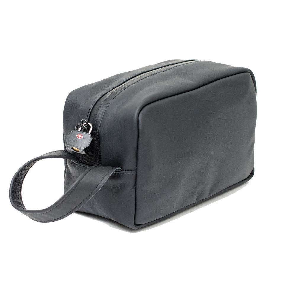 black leather odor absorbing pouch