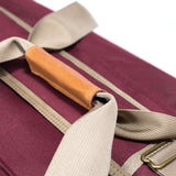 Smell Concealing Medium Large Crimson Burgundy Duffel Bag Top Handle