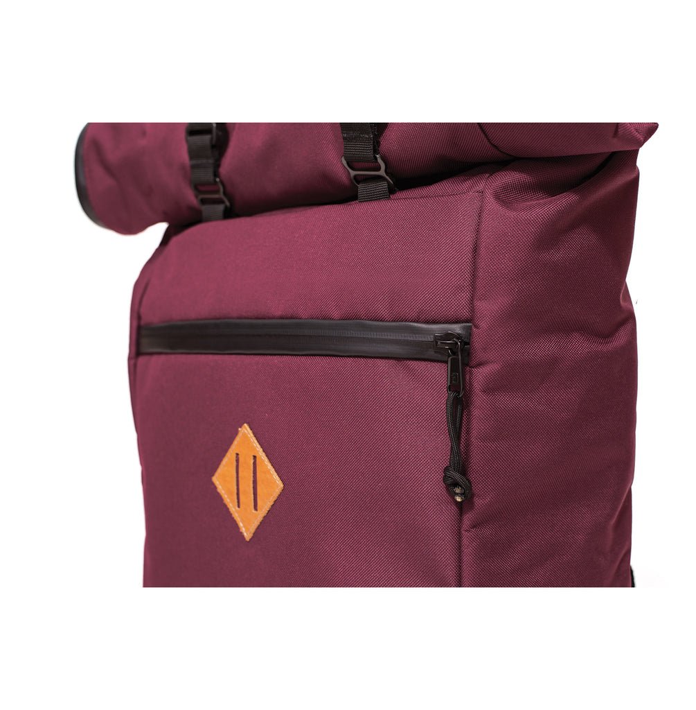 THE SCOUT ROLL TOP BACKPACK - CRIMSON