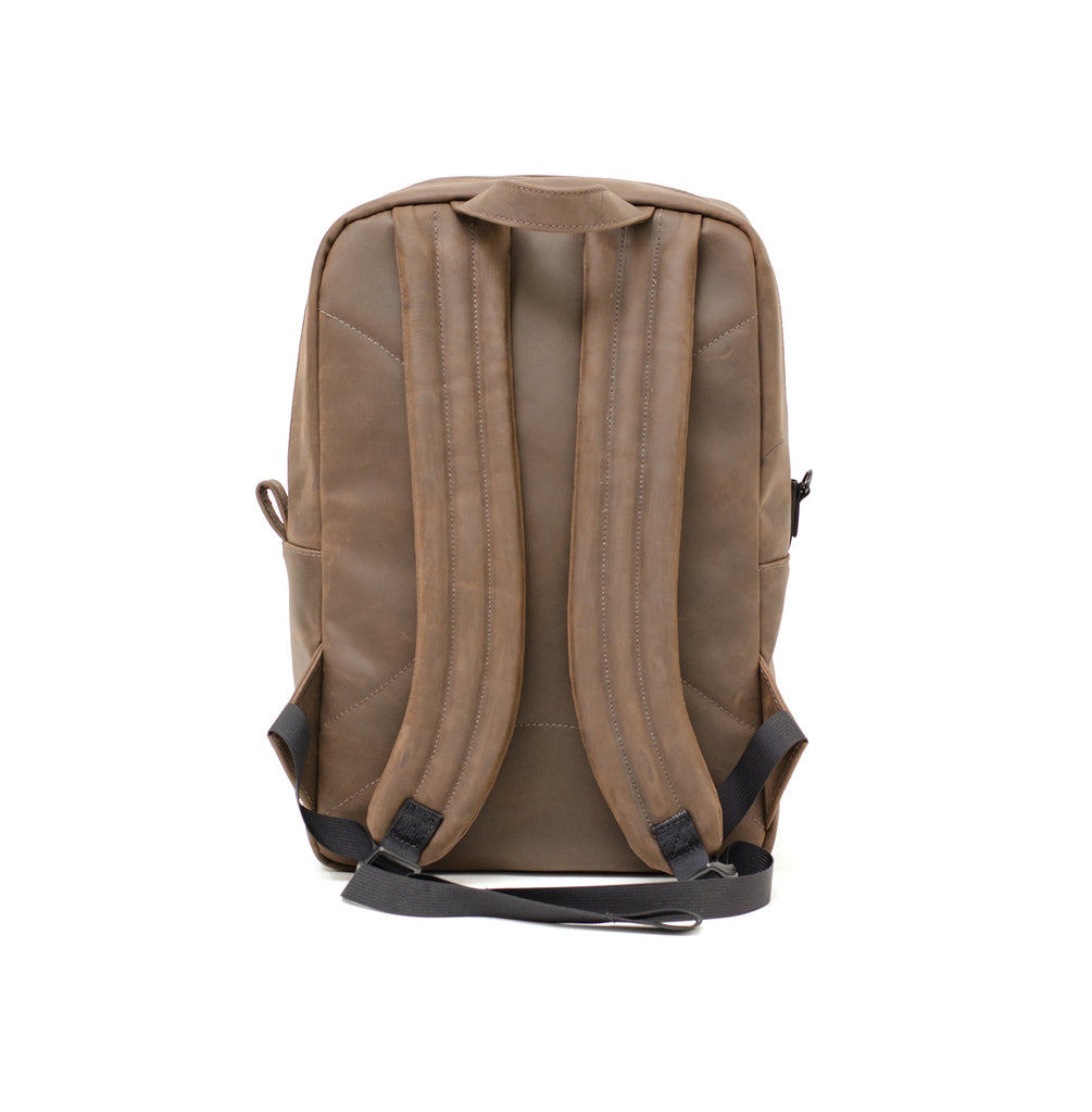 Smell proof genuine leather backpack