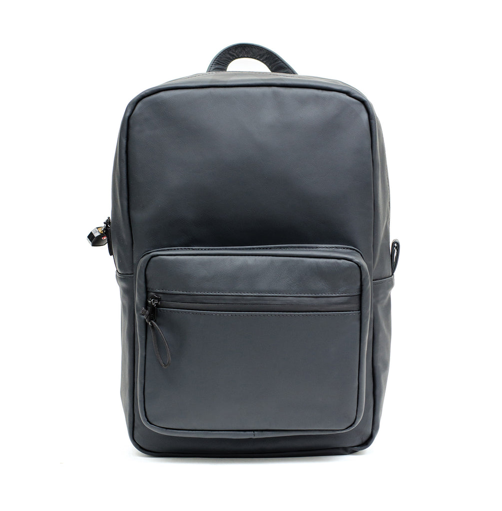Genuine leather smell proof backpack