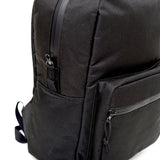 Odor Proof Black Backpack Zipper Detail