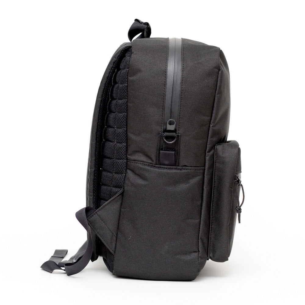Odor Proof Black Backpack Side