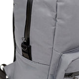 Odor Concealing Graphite Gray Backpack Zipper