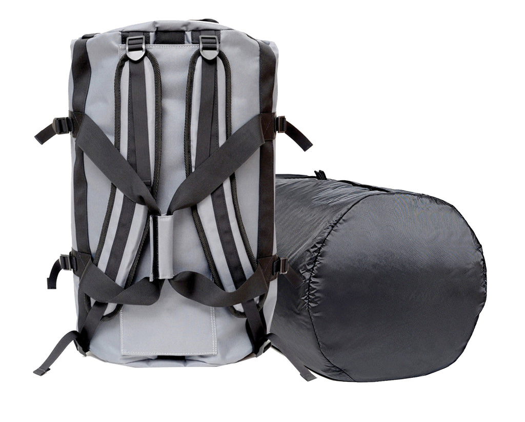 Smell Absorbing Duffel Backpack and Liner Grey Graphite