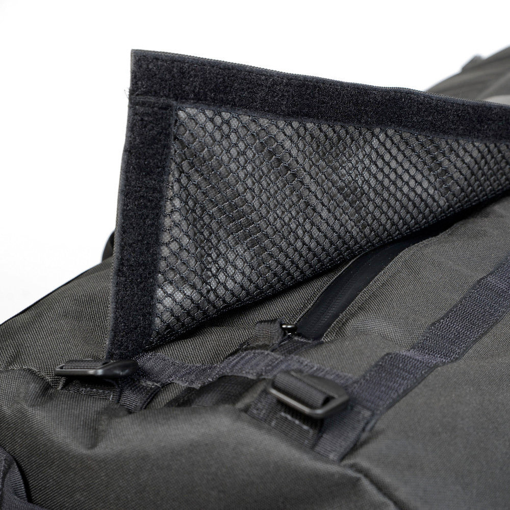 Odor Absorbing Medium Black Duffel Bag Opening Detail