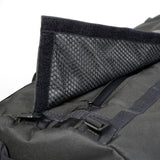 Smell Concealing Medium Duffel Bag Black Opening Detail