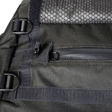 Odor Absorbing Medium Black Duffel Bag Zipper Detail