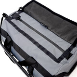 Smell Concealing Medium Duffel Bag Graphite Gray Opening