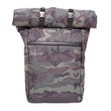 Roll Top Odor Concealing Backpack Black Forest Camouflage