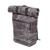 Roll Top Odor Concealing Backpack Black Forest Camouflage  Side