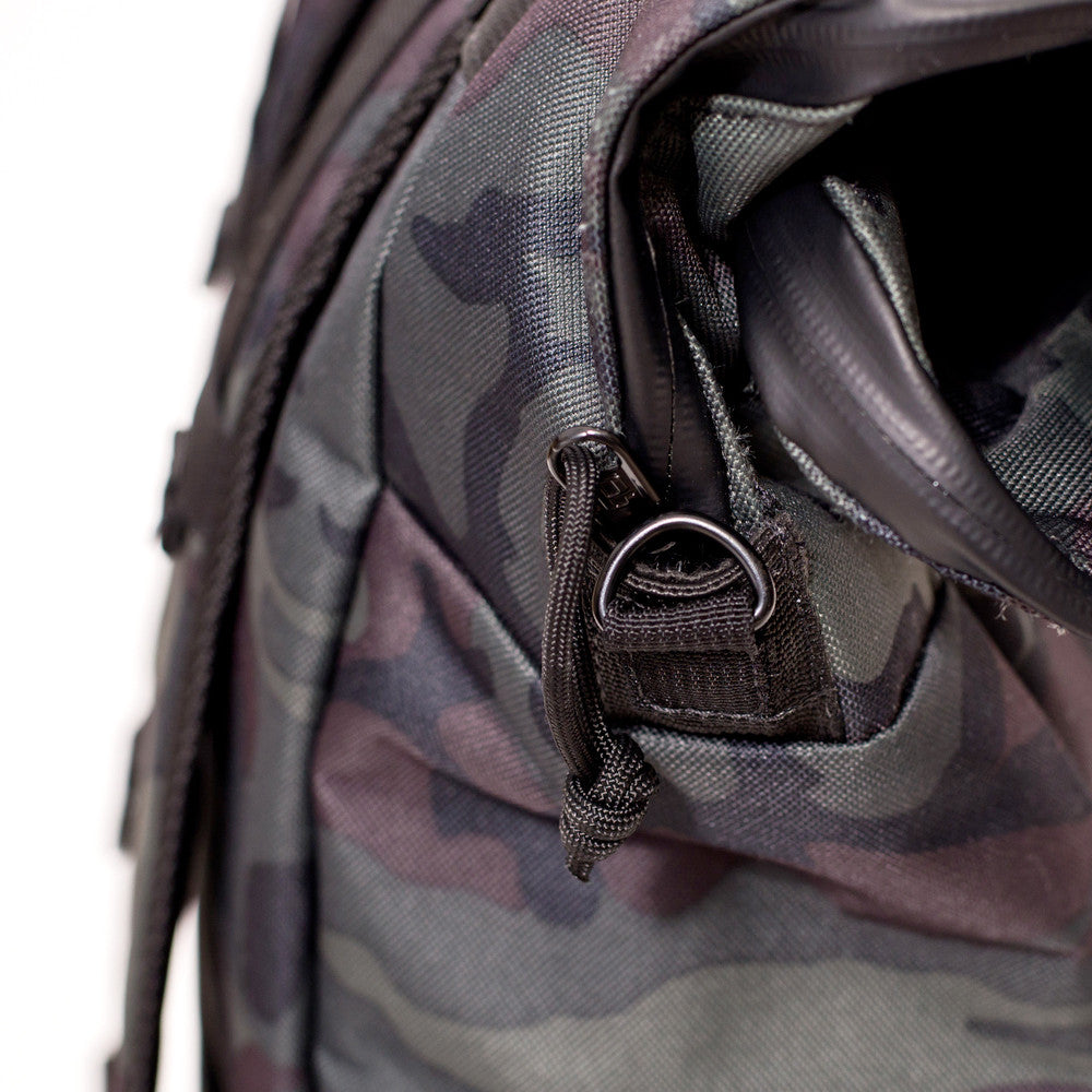 THE SCOUT ROLL TOP BACKPACK - BLACK FOREST