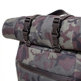 Roll Top Odor Concealing Backpack Black Forest Camouflage Handle