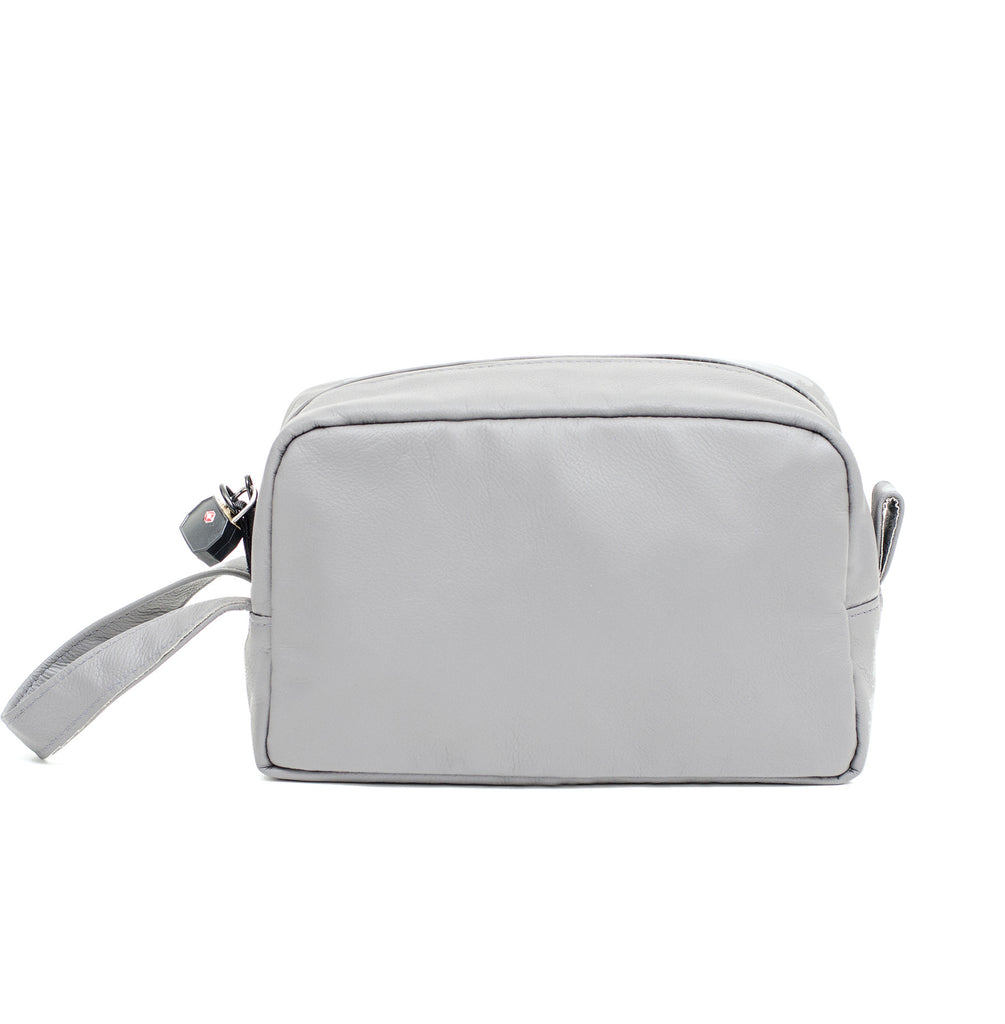 Grey Smell Proof Toiletry Bag