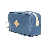 Scent Proof Carbon Toiletry Midnight Navy Blue Bag Side