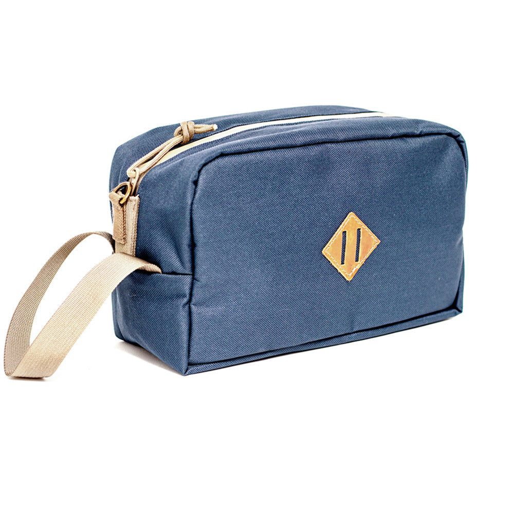 Scent Proof Carbon Toiletry Midnight Navy Blue Bag