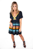 Aztec Blue BabyDoll Dress
